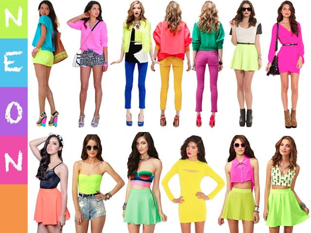 IDEAS ARE AUTOMATIC: 48: Pastel VS Neon | 80s party outfits, 80s .