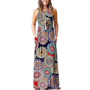 A Line Frocks Designs Women Flower Long Maxi Dress Ladies .