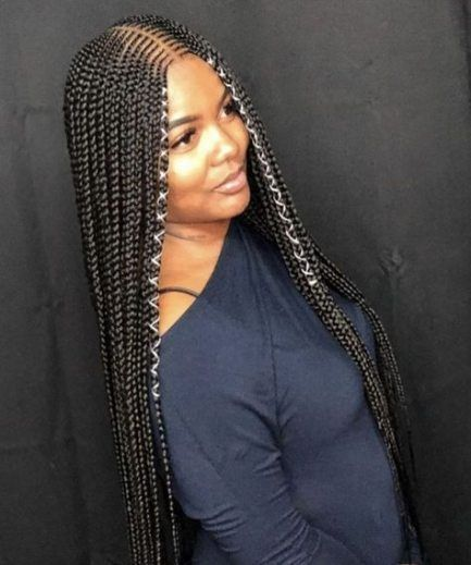 New braids with weave hairstyles african americans 65 Ideas .