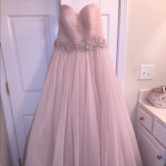 Allure Bridals Dresses | Blush Strapless Wedding Gown By Allure .