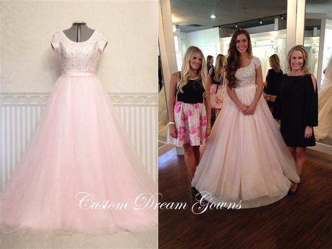 Romance Modest M524 Jessa Duggar Wedding Dress | Custom Dream .