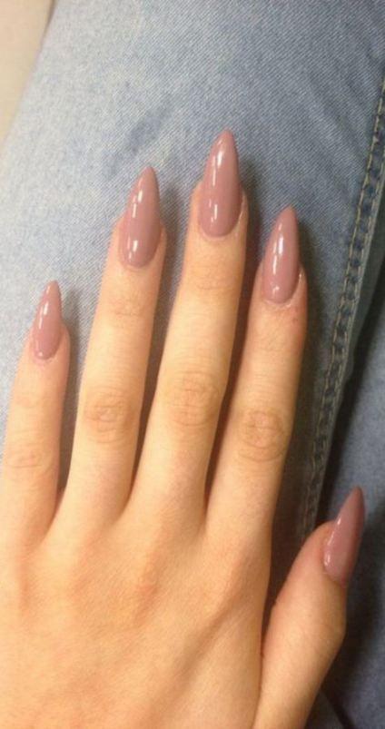 Nails shape acrylic long 50 ideas in 2020 | Almond acrylic nails .