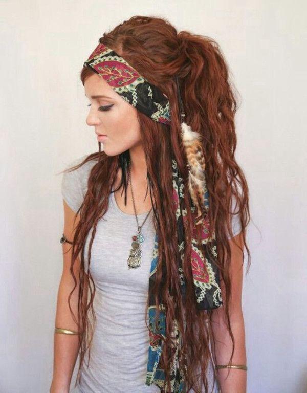 Brown hairs hippie hairstyles dreads tumblr | Hippie hair .