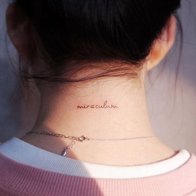 Summer Trend: Back-of-the-Neck Tattoos | The Sexy Tattoo Trends .
