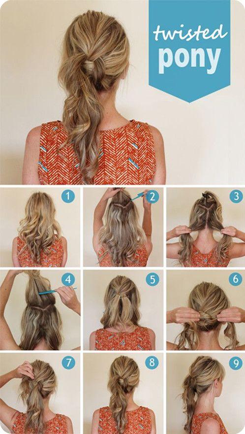 3 Easy Ways Back to School Hairstyles -   Twist ponytail, Ponytail .
