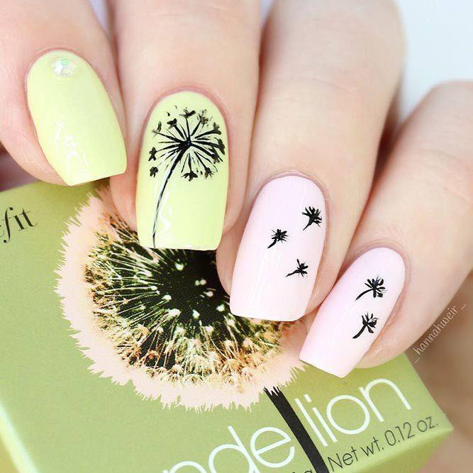 Daneloo | Gel nail art, Flower nail designs, Floral nai