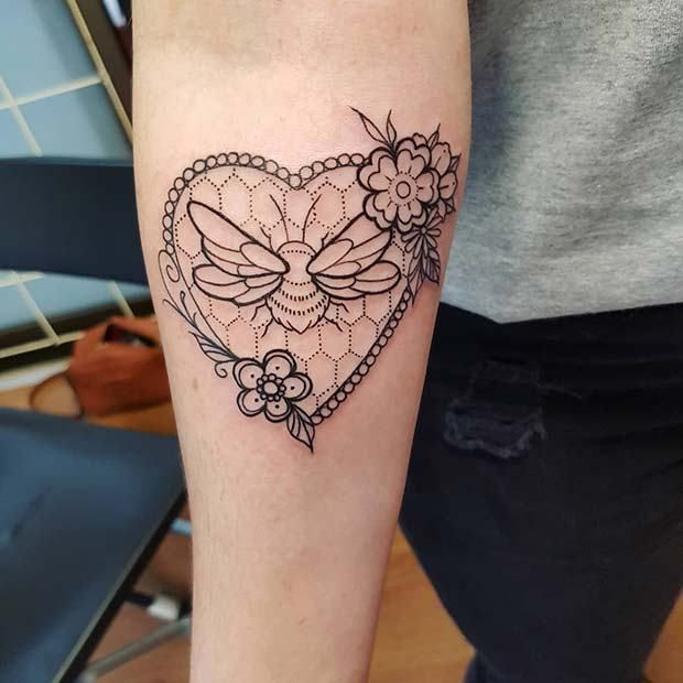21 Cute Bumble Bee Tattoo Ideas for Girls | Bumble bee tattoo, Bee .