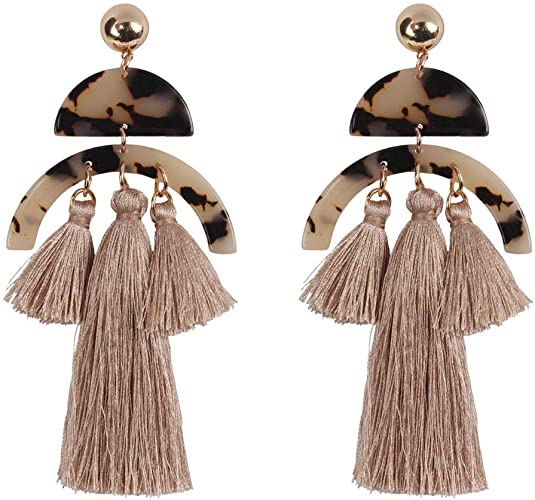 Amazon.com: Lazeny Bohemia Tassel Earrings Elegant National Style .