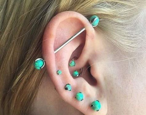 70 Bold and Beautiful Industrial Piercing Settings for a Head .