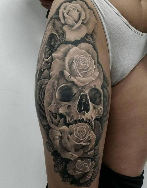 44 Bold Skull Tattoos to Celebrate Your Mortality .