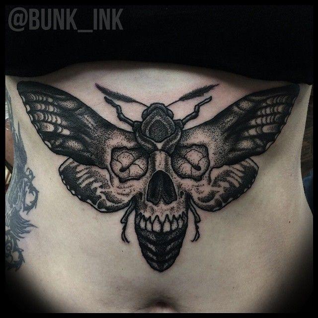 8 Bold Black Moth Tattoos | Moth tattoo, Black butterfly tattoo .