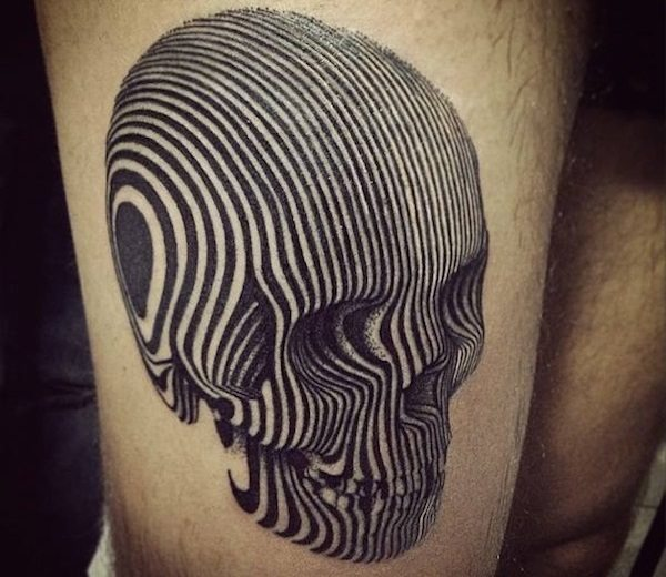 10 Creepy and Creative Skull Tattoo Desig