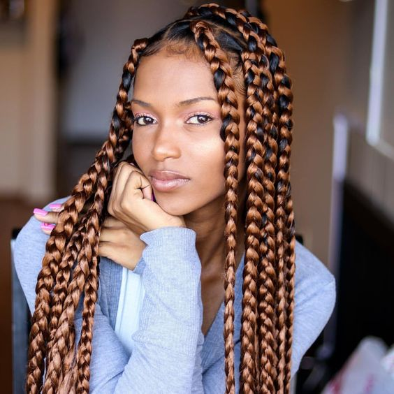 79 Sophisticated Box Braid Hairstyles (With Tutoria