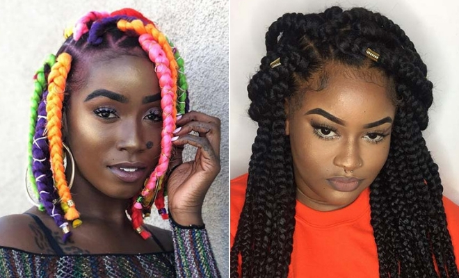43 Big Box Braids Hairstyles for Black Hair | StayGl