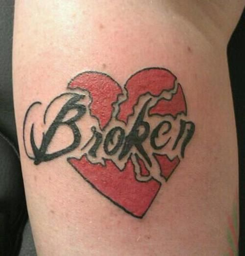 broken heart tattoo, love it | Broken heart tattoo, Broken tattoo .