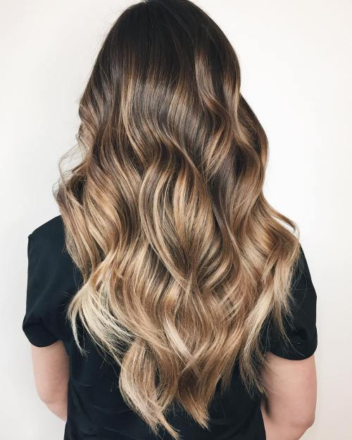 20 Natural-Looking Brunette Balayage Styl