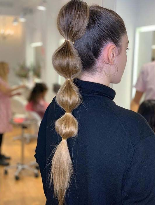 23 Trendy Bubble Ponytail Hairstyles to Try in 2020 | StayGlam in .