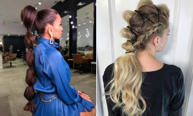 23 Trendy Bubble Ponytail Hairstyles to Try in 2020 | StayGl