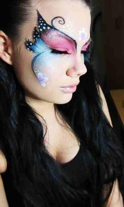 Idee make up farfalla per Carnevale | Butterfly makeup, Butterfly .