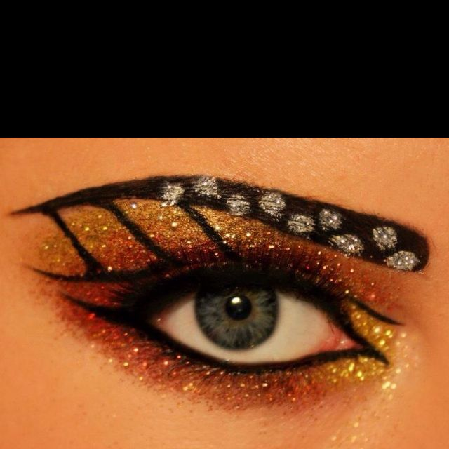 monarch butterfly eyes | Butterfly makeup, Butterfly halloween .