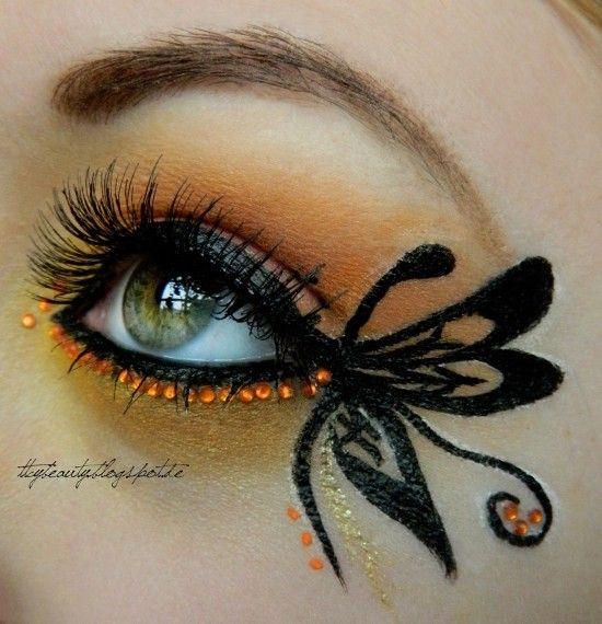 Butterfly – Idea Gallery - Makeup Geek | Butterfly makeup, Makeup .