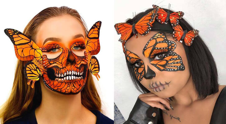 23 Pretty Butterfly Makeup Ideas for Halloween To Copy In 20