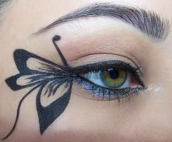 DIY Halloween Makeup : Butterfly | Butterfly makeup, Halloween .