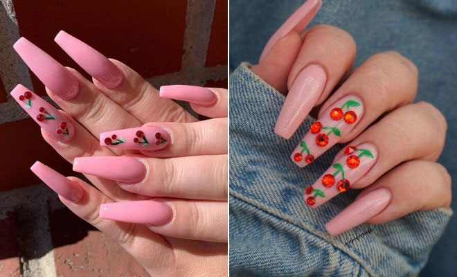 23 Ways to Wear Cherry Nails This Spring and Summer | StayGl