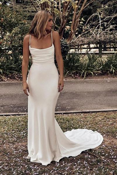 Chic Boho Wedding Dress 2020 Ruching Neckline – loveangeldre