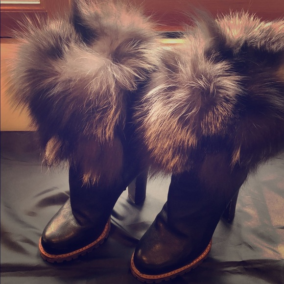 Dolce & Gabbana Shoes | Dolce And Gabbana Chic Winter Boots W Fur .