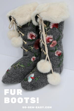Chic Indoor Fur Boots | AllFreeSewing.c