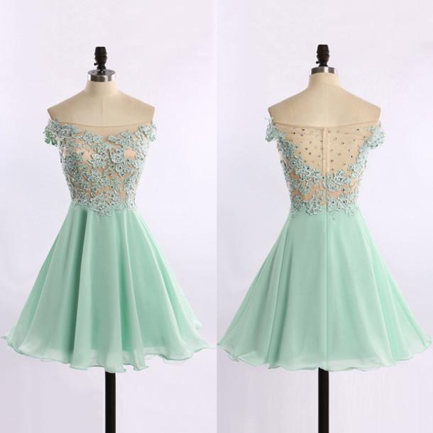 dress, prom, mint, lace, mini, chic, cute, short, mint, wow, cool .