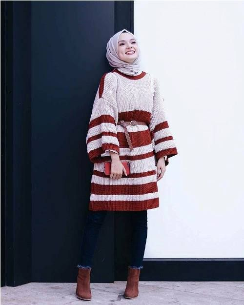 Winter hijab outfits in prude and style looks | Hijab jeans, Hijab .