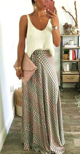 34 Trending Bohemian Chic Skirts Outfits | Chic skirts, Boho .