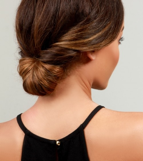 Simple Yet Pretty DIY Day-To-Night Chignon Hairstyle - Styleohol