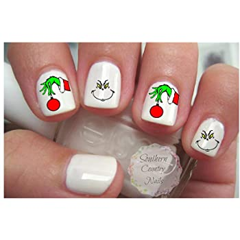 Amazon.com: Cute Christmas Nail Decal Nail Art Fingernail Decals .