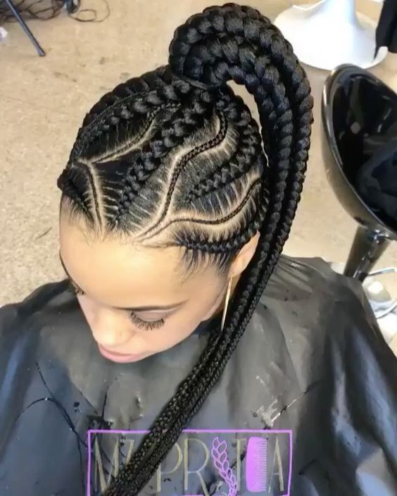 Classy Braid Hairstyles for slay queens | Big cornrows hairstyles .