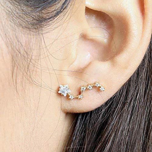 Amazon.com: Constellation Earrings Ear Crawler Earrings Zodiac .