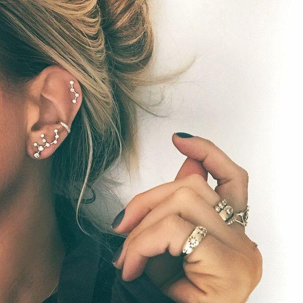 Virgo Diamond Constellation Studs | Constellation earrings .