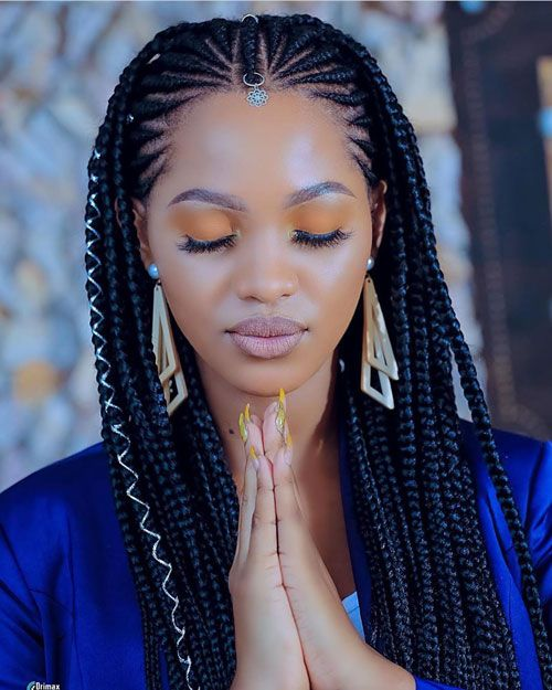 50 Cool Cornrow Braid Hairstyles To Get in 2020 in 2020 | Cornrow .