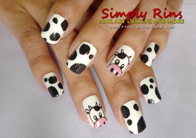 Nail Art: Curious Cows | Simply Ri