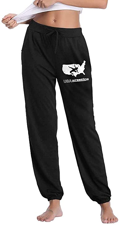 Mecoolid USA Wrestling Logo Womens Autumn Winter Long Trousers .