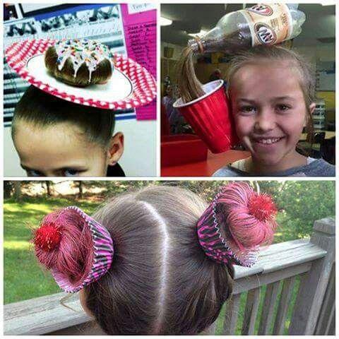 Lol. ..cute crazy hair day ideas | Crazy hair day at school, Wacky .