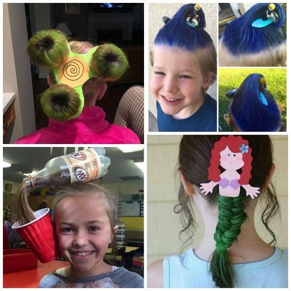 Crazy Hair Ideas | Wacky hair days, Crazy hair for kids, Crazy ha