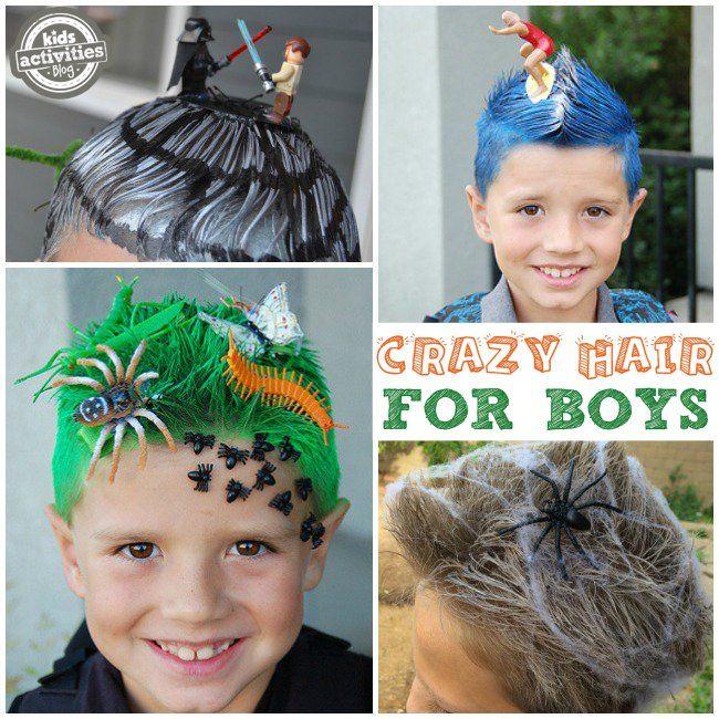 Silly, Wacky, And Fun Crazy Hair Day Ideas For School | Wacky hair .