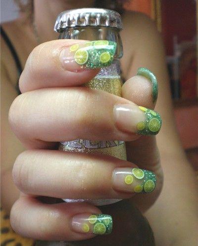 Pin by Margaret Antill on Nail Art | Fruit nail art, Green nail .