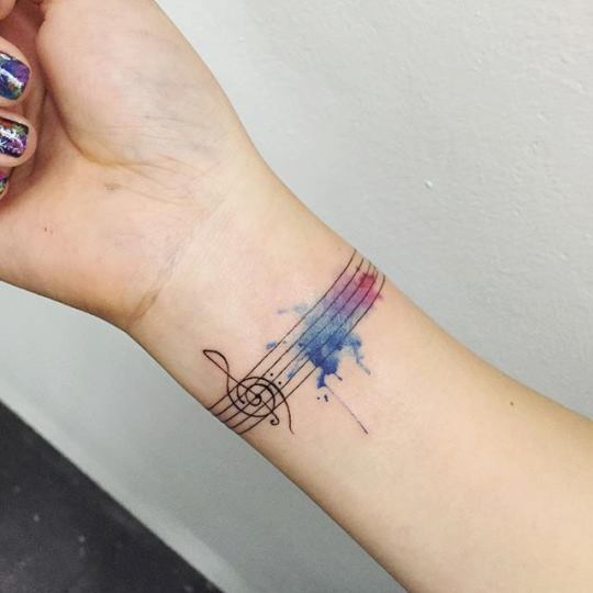 82 Creative Music Tattoos for The 'Music-Lover' in You | Wrist .