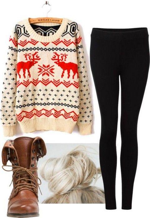 Cute Christmas outfits Glamsugar.com #christmas #outfits #sweater .