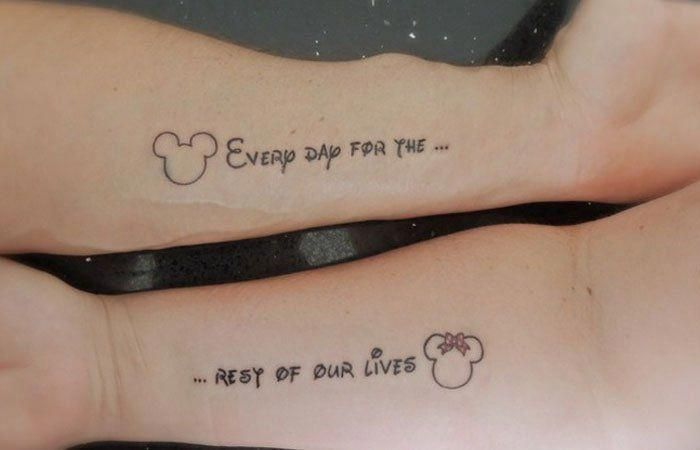 Married Couple Tattoo On Arms #couplestattoosmarried | Couple .