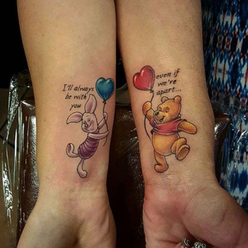 Winnie The Pooh Mother Daughter Tattoo - Best Matching Mother .